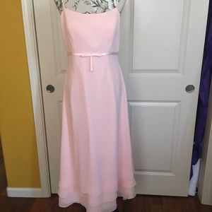 Pink Bow Formal Gown